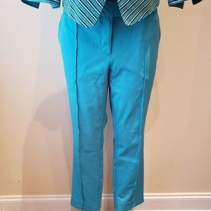 Turquoise Ankle Pants B79
